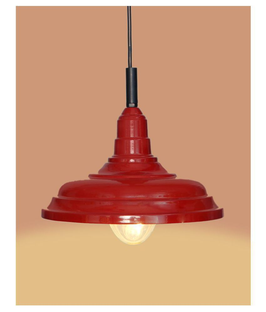A&H Iron Plain Cup Pendant Red - Pack of 1