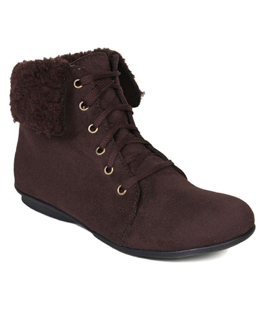 Bruno Manetti Brown Ankle Length Cowboy Boots