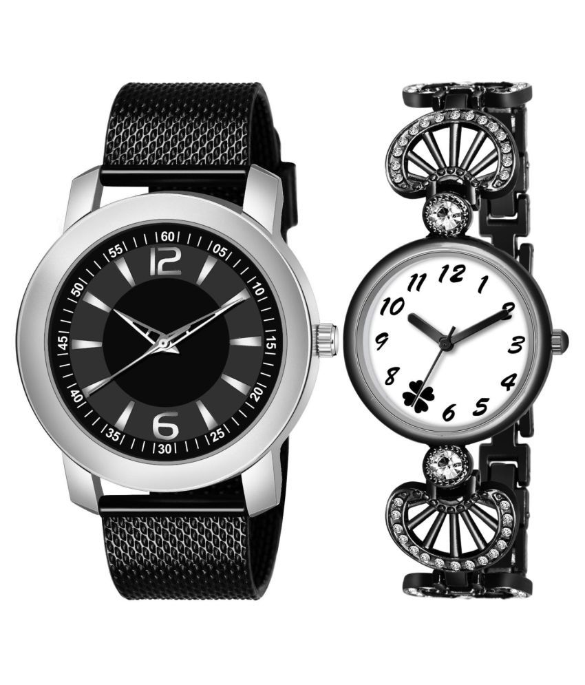 NEW K_508_847 COUPLE ANALOG QUARTZ WATCH FOR MEN AND WOMEN
