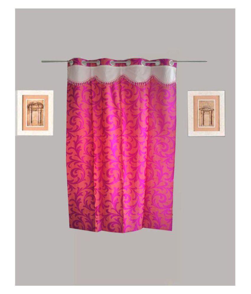 Tidy Single Window Eyelet Polyester Curtains Purple