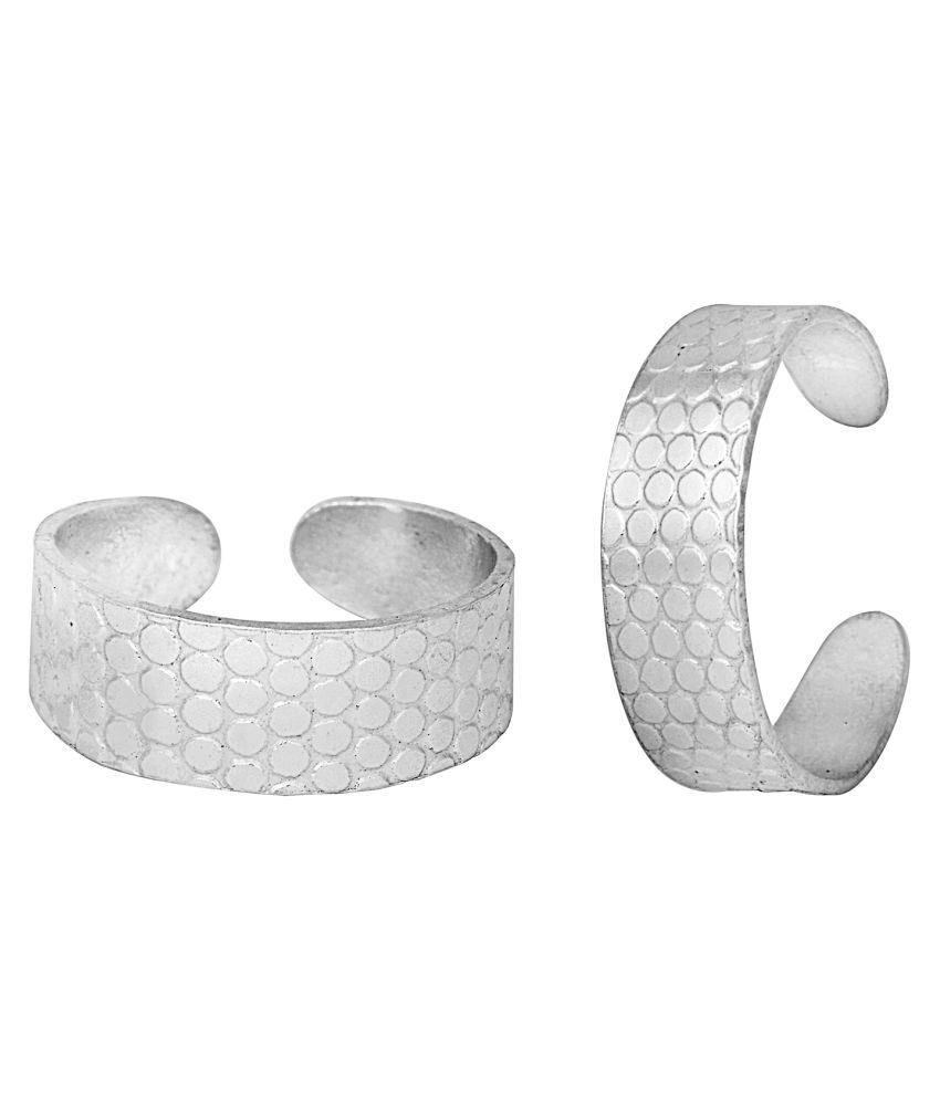 Classic Engraved Silver Toe Ring-TRRD002