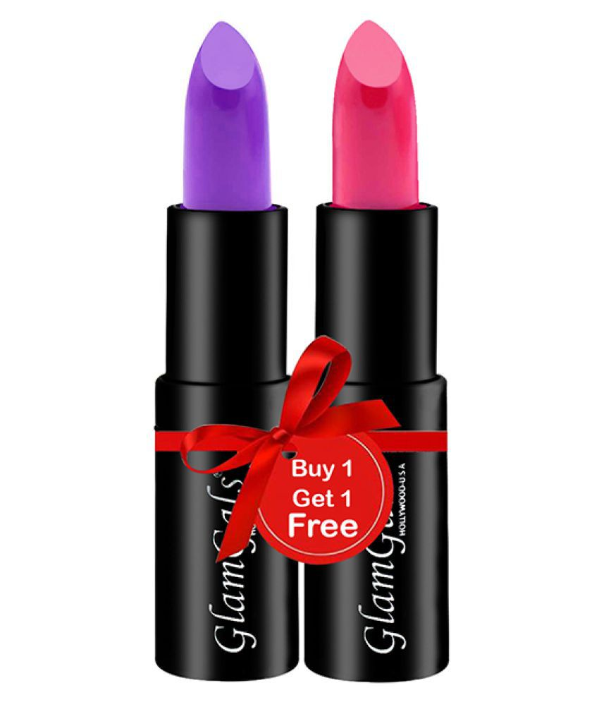 GlamGals Buy 1 Get 1,HOLLYWOOD-U.S.A Lipstick Multi Pack of 2 3.8 g
