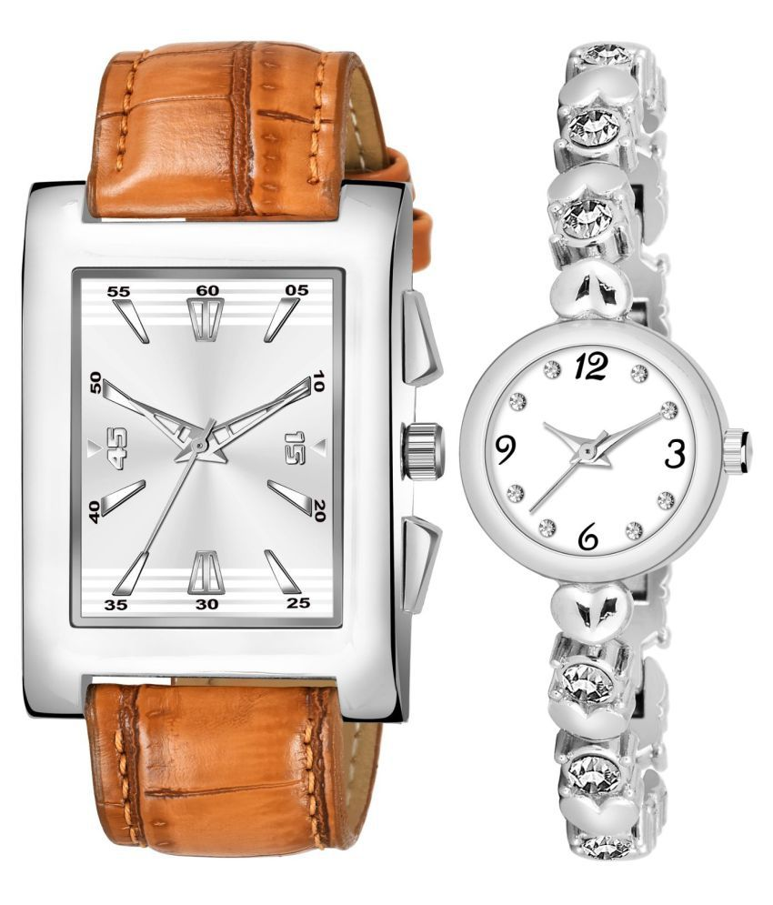 K_8126_L_778 EXCLUSIVE LEATHER STRAP ANALOG QUARTZ WATCH FOR MEN AND WOMEN
