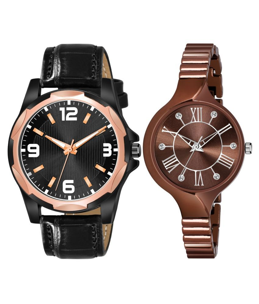 NEWK_8127_L_859 EXCLUSIVE LEATHER STRAP ANALOG QUARTZ WATCH FOR MEN AND WOMEN