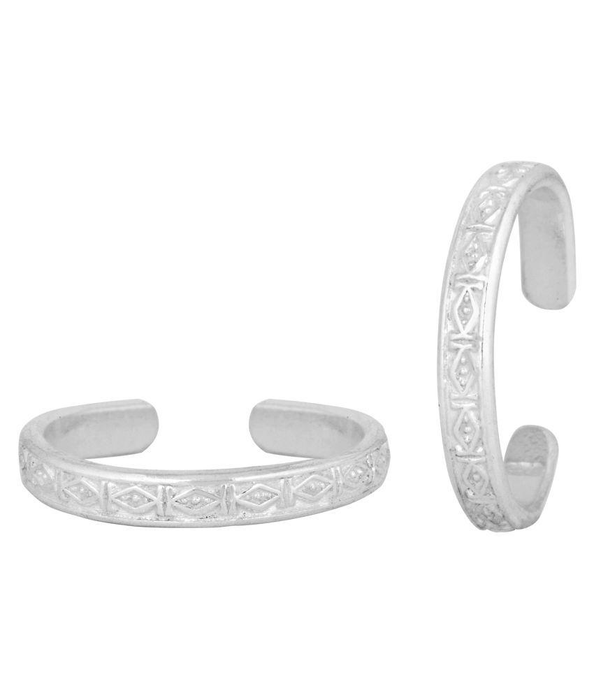 Patola Silver Toe Ring-TRRD030