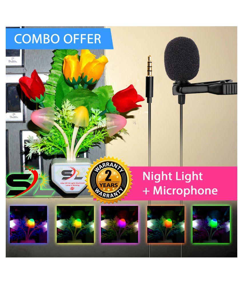 Radhe Instrument COMBO NIGHT LIGHT + Lapel Microphone