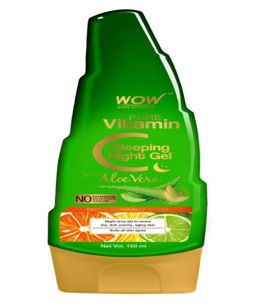 WOW Skin Science Pure Vitamin C Sleeping Night Gel with Aloe Vera -Night Time Aid Night Cream 150 ml