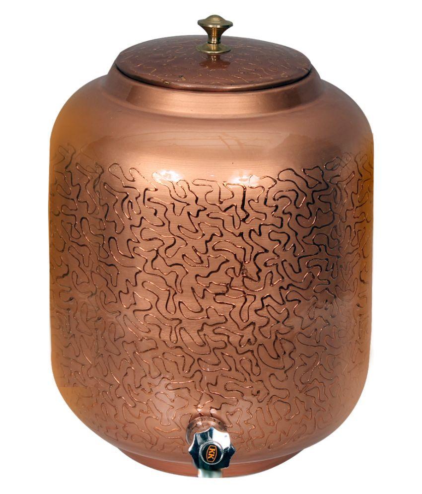 AQUIRIOS Copper Water Container Set of 1 12000 mL