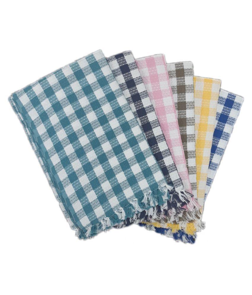 prithvi tex Set of 6 Cotton Bath Towel Multi