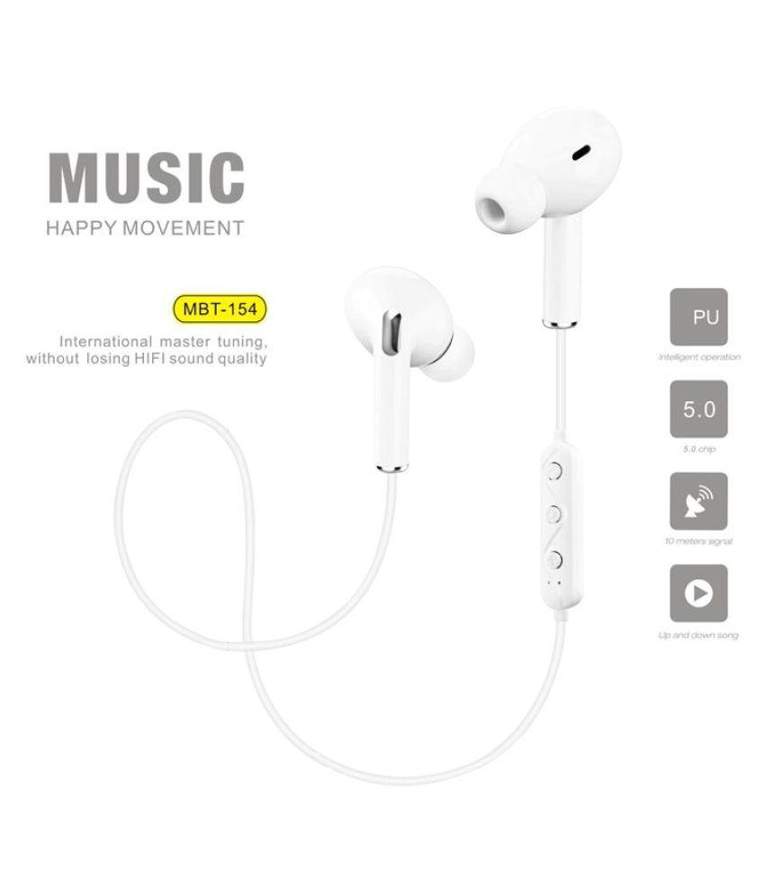 hitage Magnetic Bluetooth  MBT154  Neckband Wireless With Mic Headphones/Earphones