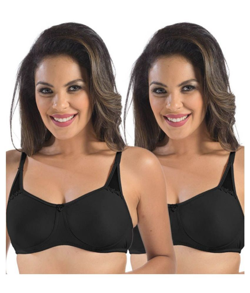 Sonari Cotton T-Shirt Bra - Black