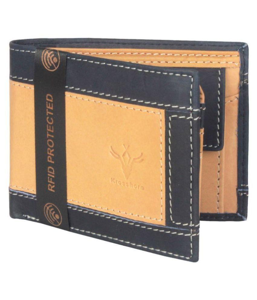 Krosshorn Leather Tan Formal Regular Wallet