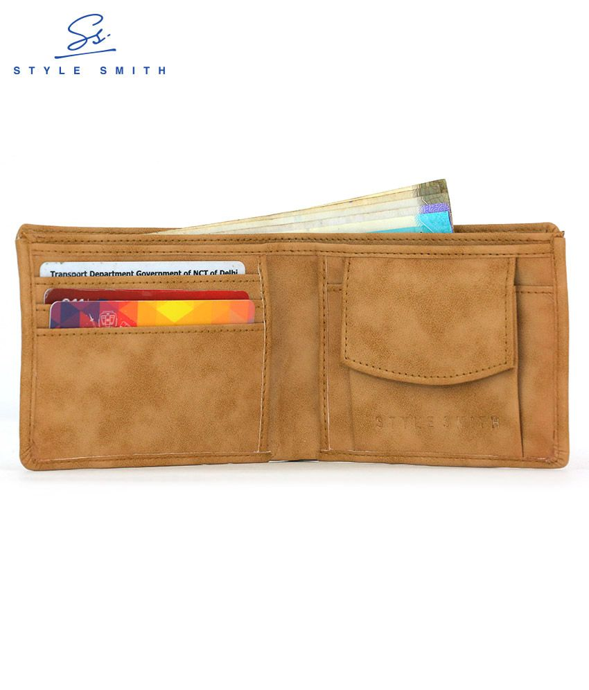 Style Smith Faux Leather Tan Casual Regular Wallet