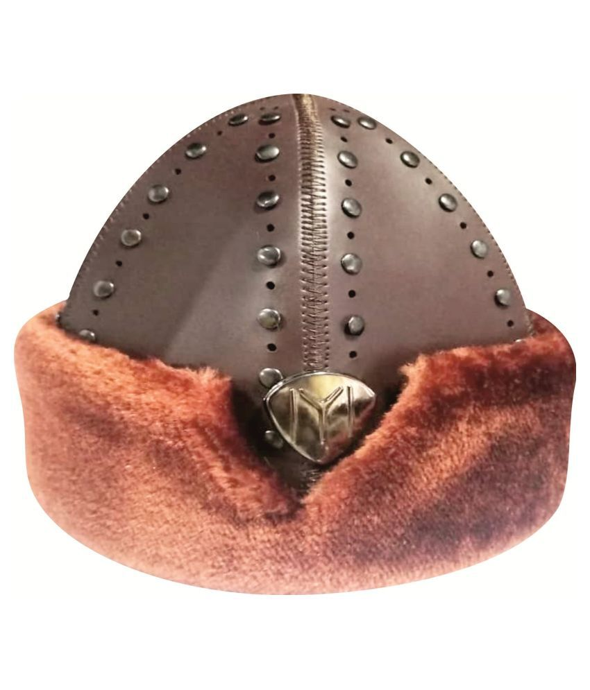 Ertugrul Ghazi Cap Brown Embroidered Fabric Caps