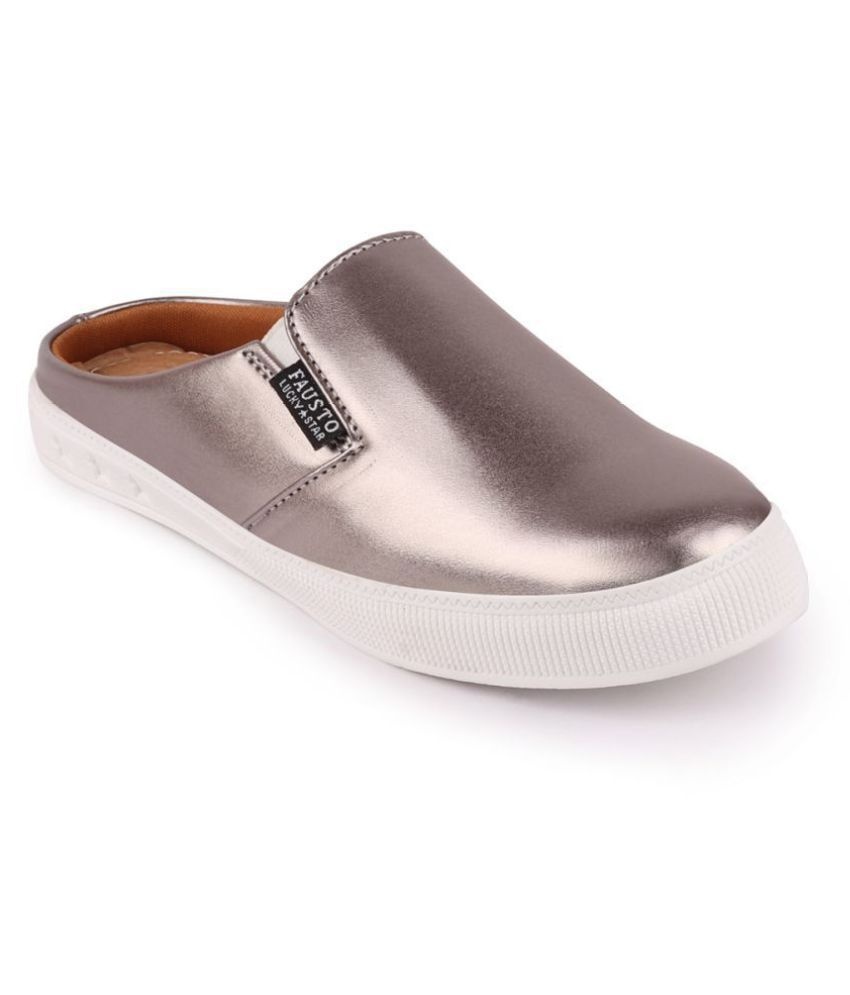Fausto Silver Casual Shoes