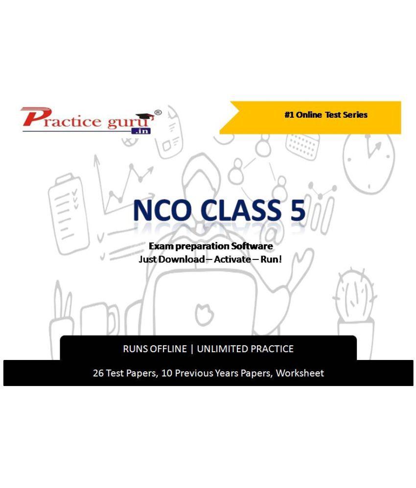 Practice Guru  26 Test ,10 Previous Years Papers,10 Worksheet (Printable-PDF) for 5 Class NCO Exam  Online Tests