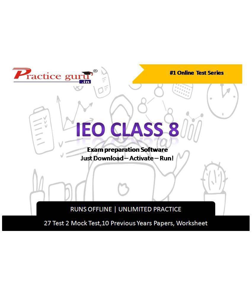 Practice Guru  27 Test 2 Mock Test,10 Previous Years Papers,20 Worksheet (Printable-PDF) for 8 Class IEO Exam  Online Tests