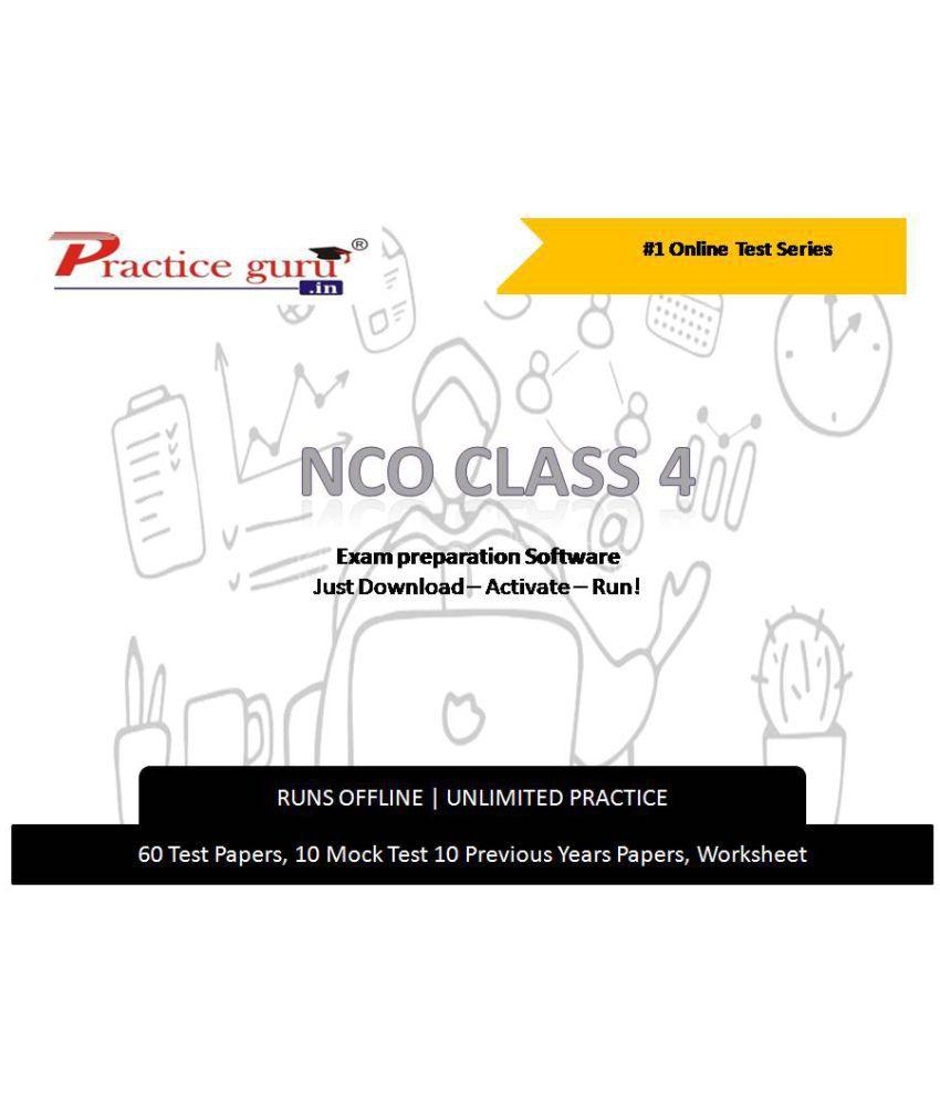 Practice Guru  60 Test 10 Mock Test,10 Previous Years Papers,10 Worksheet (Printable-PDF) for 4 Class NCO Exam  Online Tests