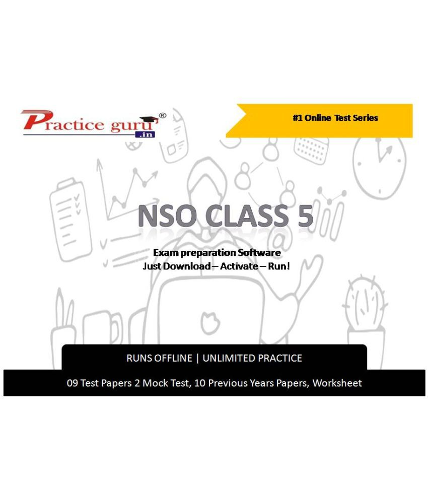 Practice Guru  9 Test 2 Mock Test,10 Previous Years Papers,30 Worksheet (Printable-PDF) for 5 Class NSO Exam  Online Tests