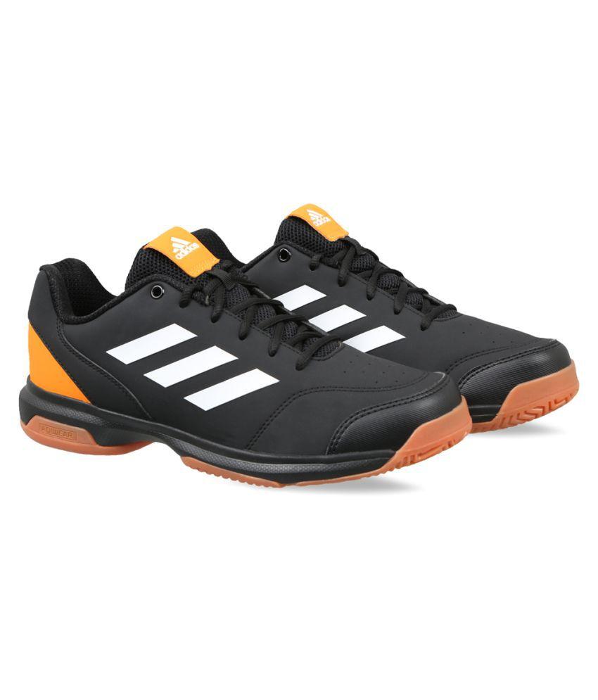Adidas Black Indoor Court Shoes
