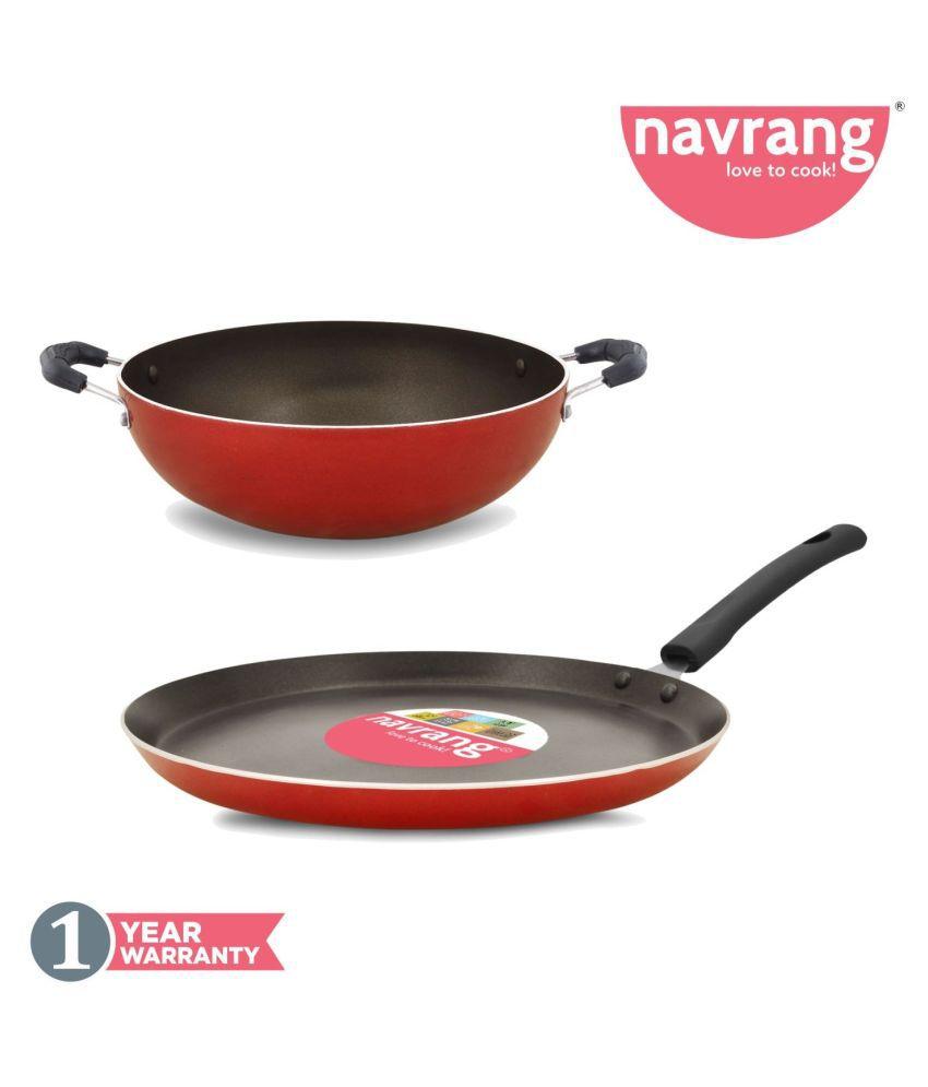 Navrang Cookware TAWA, KADAI 2 Piece Cookware Set