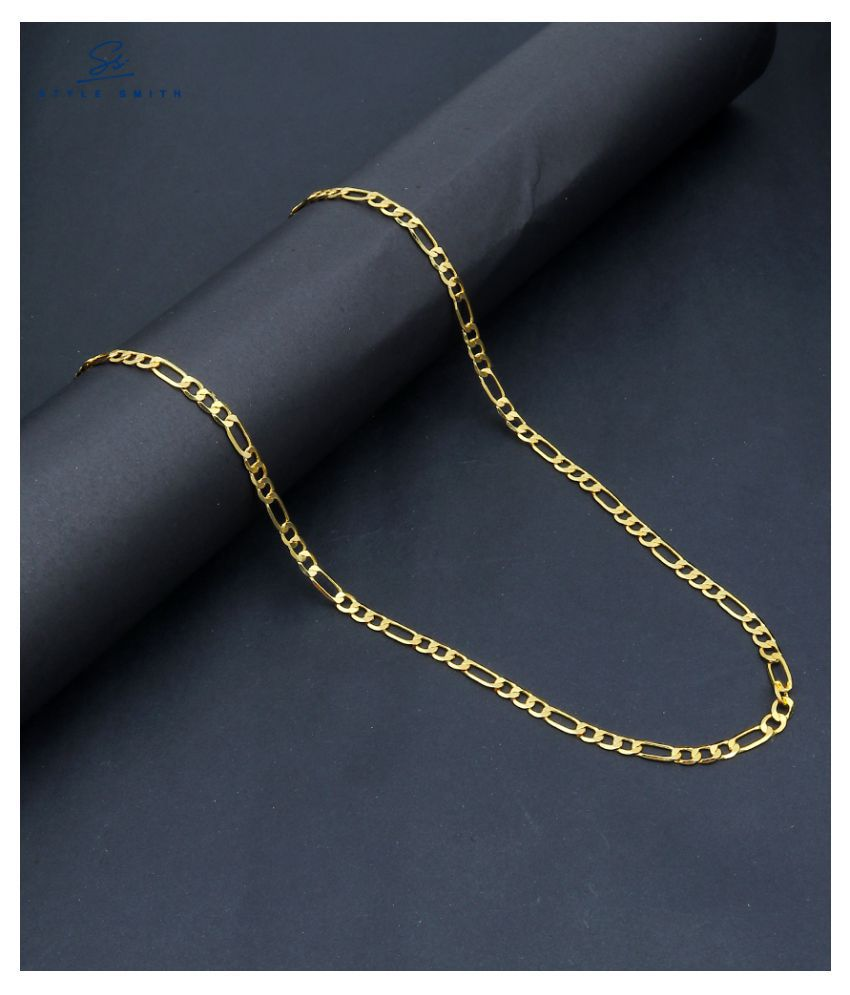 Style Smith 10 gm Gold Plated Fiagro Chain For Men