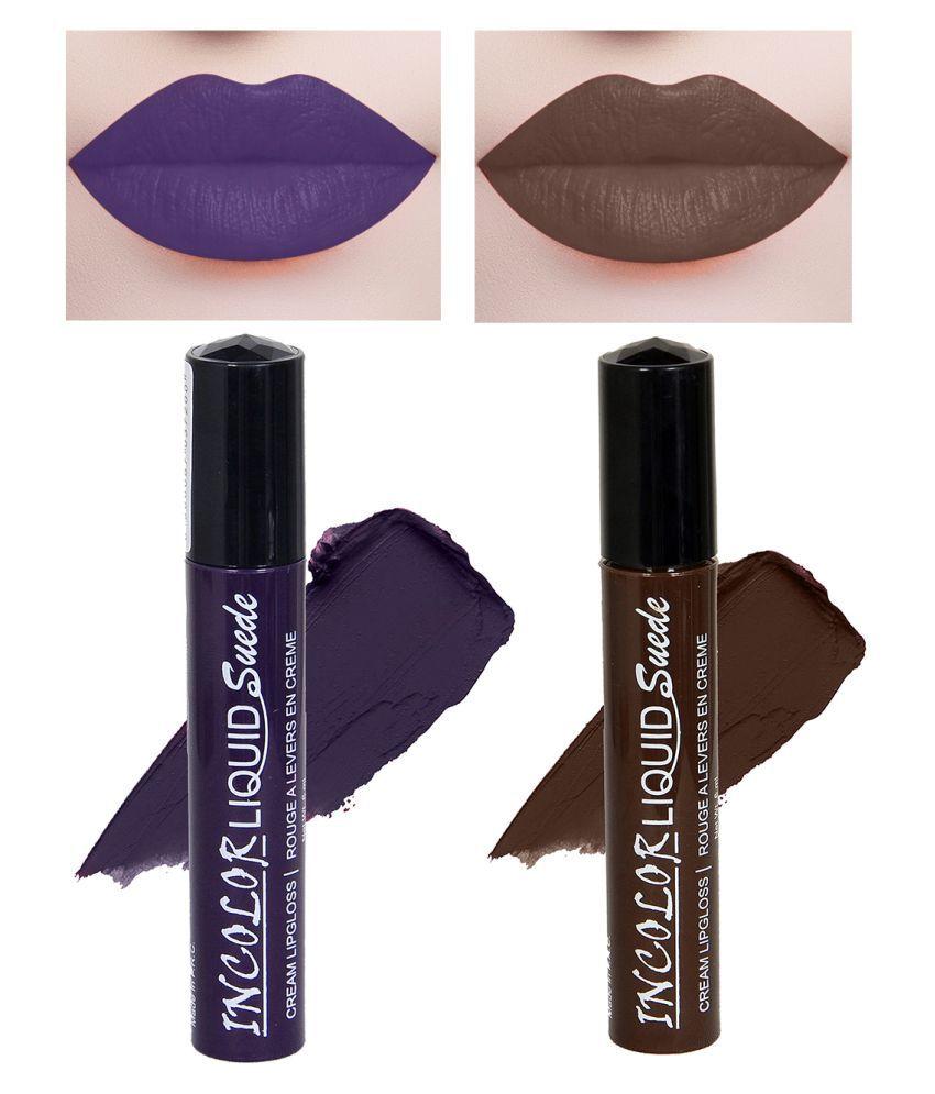 Incolor Lip Gloss Liquid Combo 05 Multi Pack of 2 6 mL