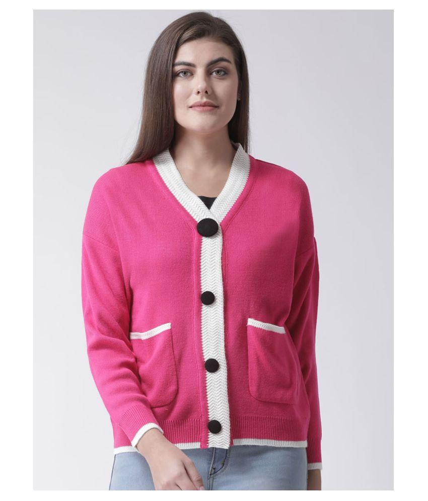 Club York Acrylic Pink Cardigans Dress