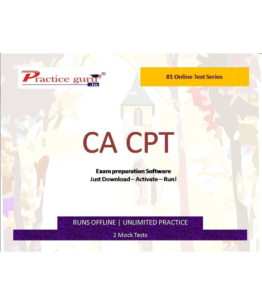 Practice Guru (CA-CPT)2 Online Mock Tests License/Redemption Code - Online