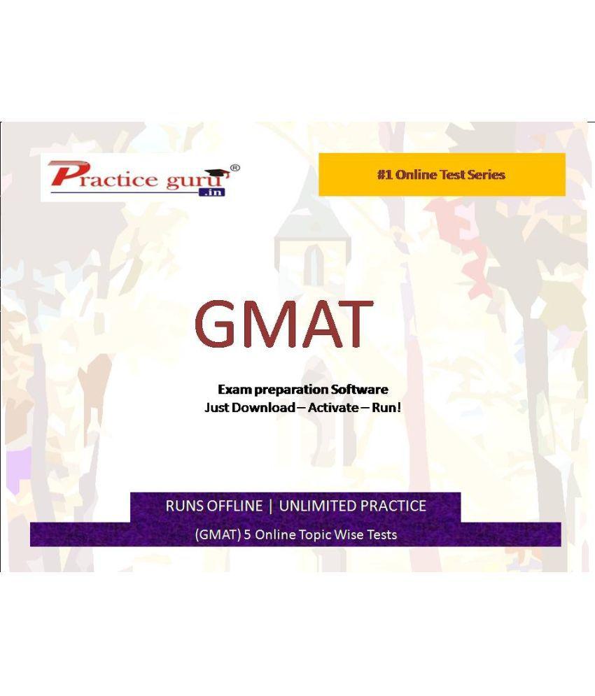 Practice Guru (GMAT) 5 Online Topic Wise Tests  License/Redemption Code - Online