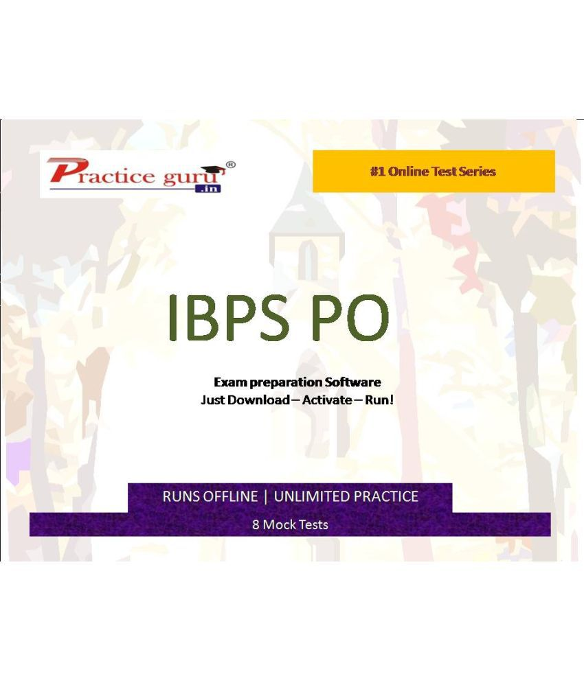Practice Guru (IBPS CLERK) 8 Online Mock Tests License/Redemption Code - Online