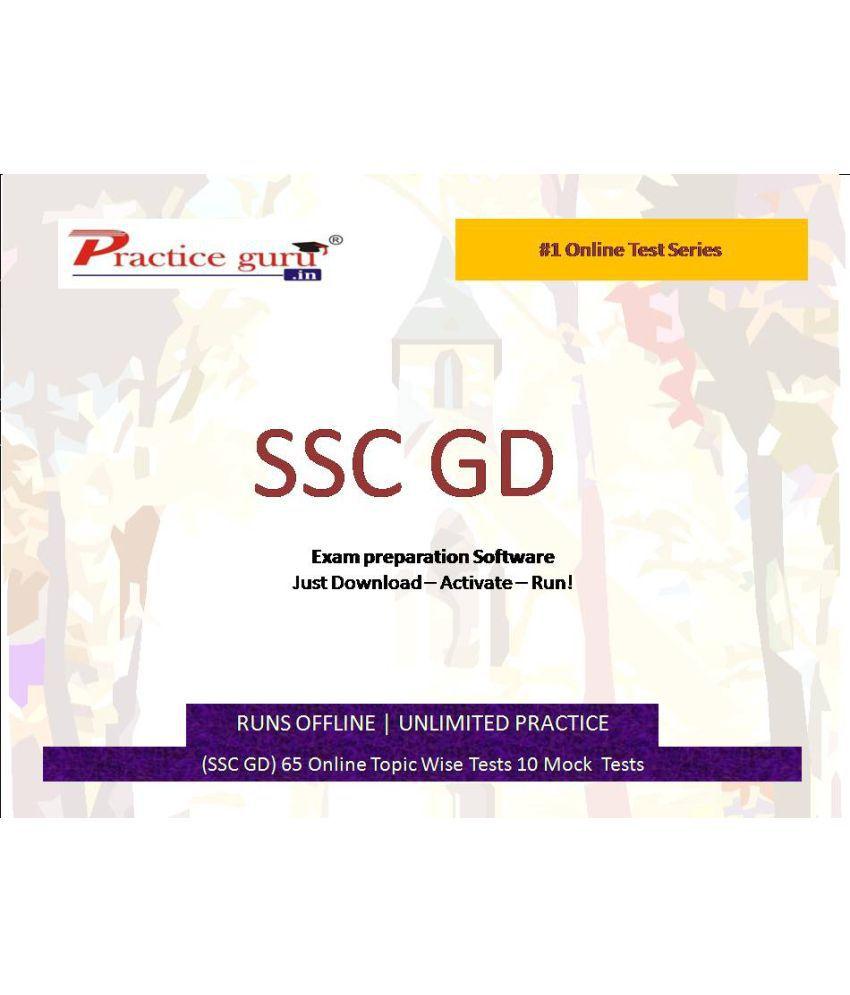 Practice Guru (SSC GD) 65 Online Topic Wise Tests 10 Mock  Tests License/Redemption Code - Online