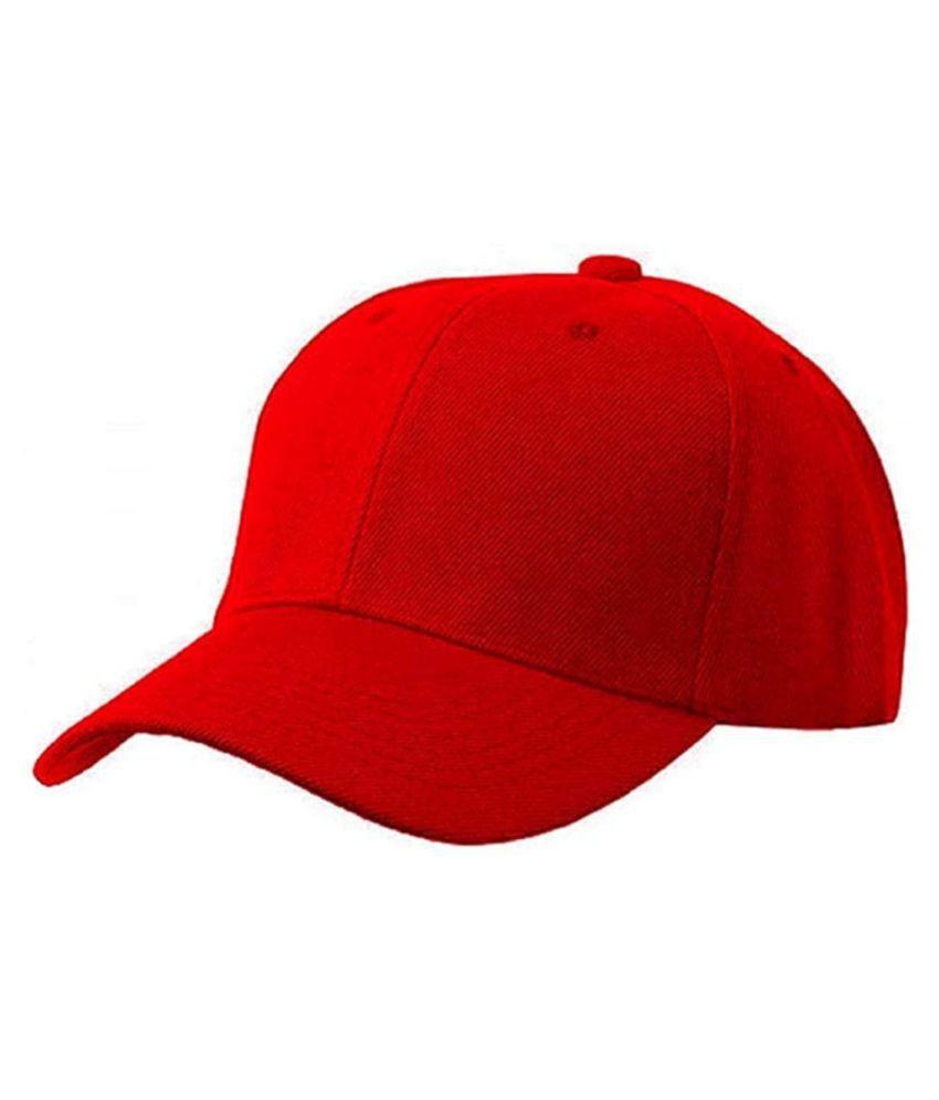 Red cotton cap