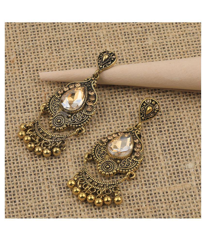 Charm Delicated Patry Wear Golden Dangle Earring For Women Girl