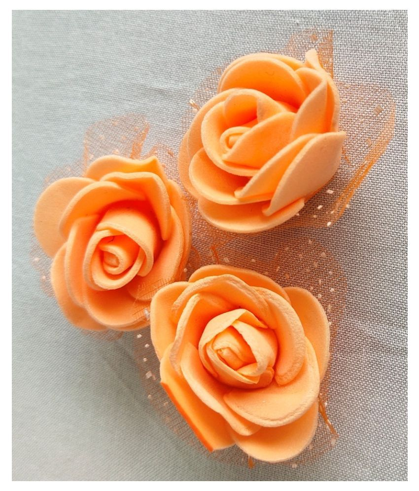 24Pcs Orange Color Artificial Flower And Art And Craft H-0004