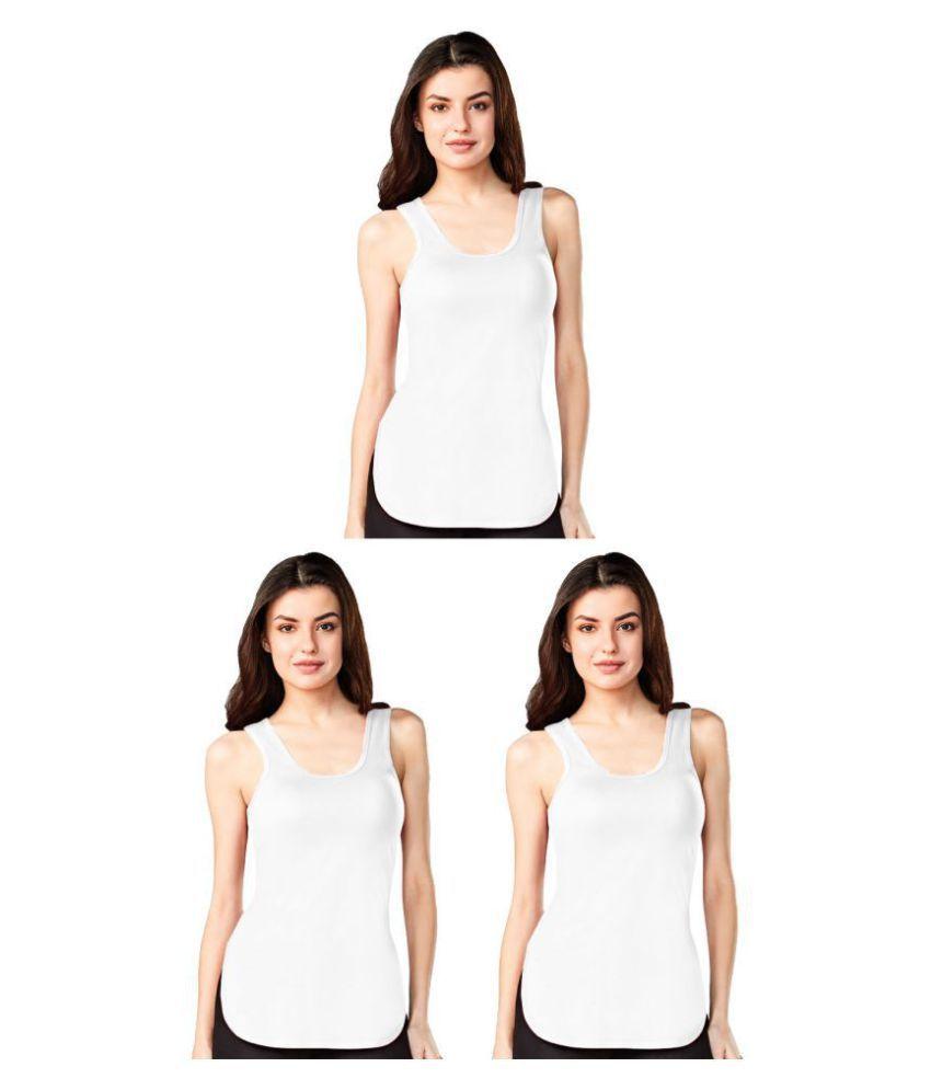 Dixcy Cotton Camisoles - White