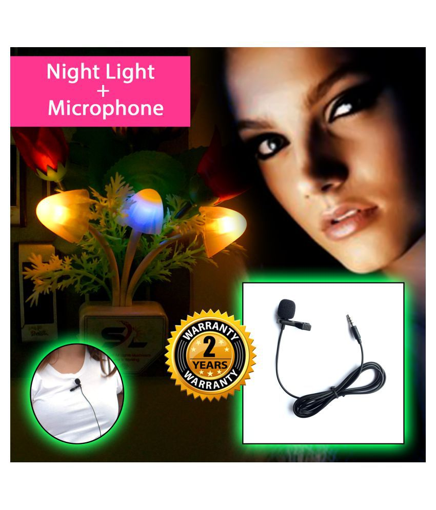 Radhe Instrument COMBO NIGHT LIGHT + Lapel Microphone