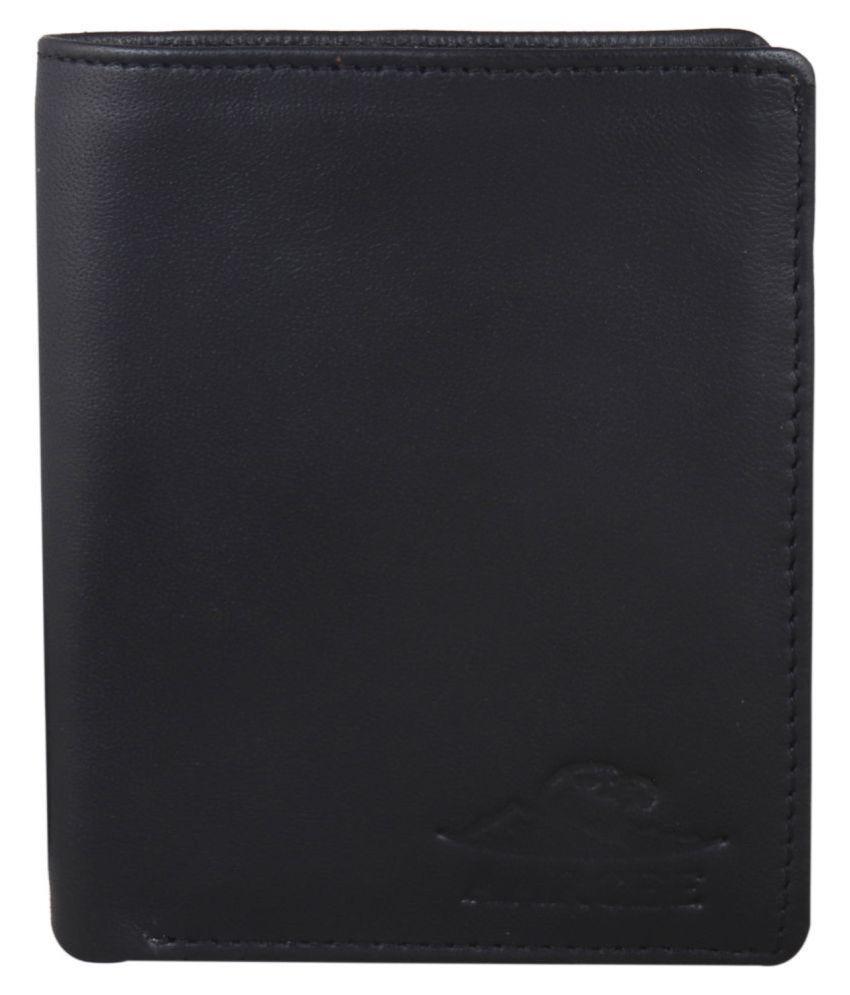 AARCEE Leather Black Formal Regular Wallet