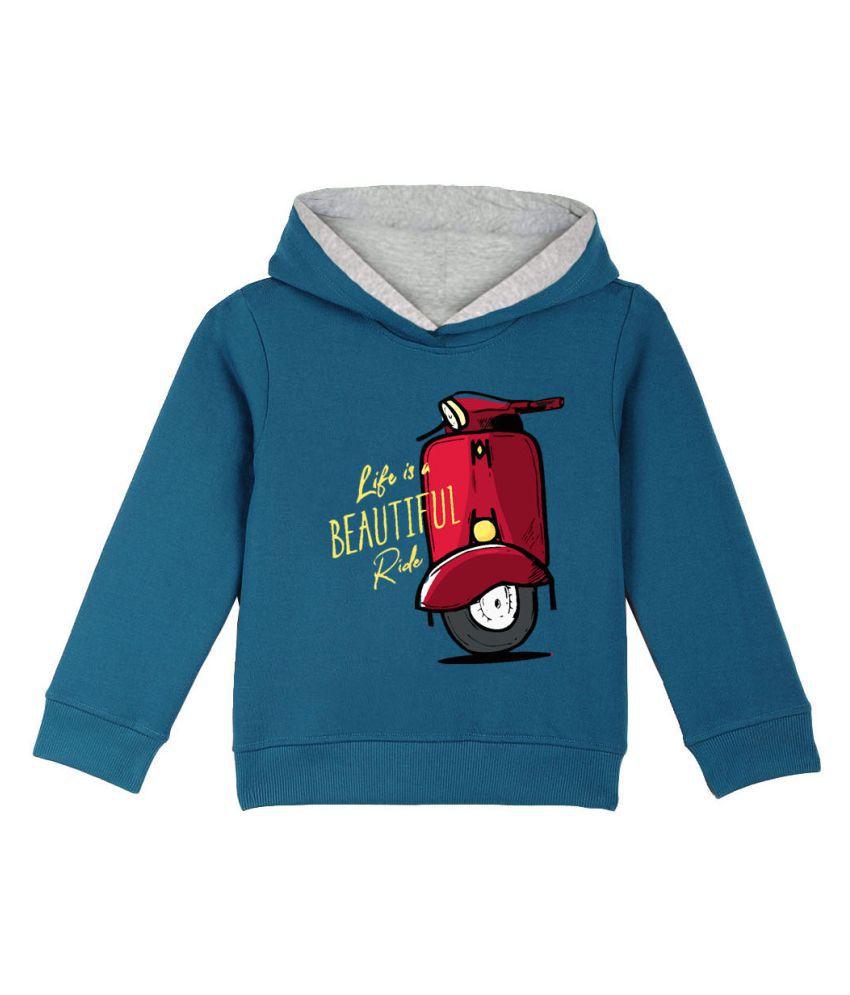 Naughty Ninos Boys Blue Printed Hooded Sweatshirt