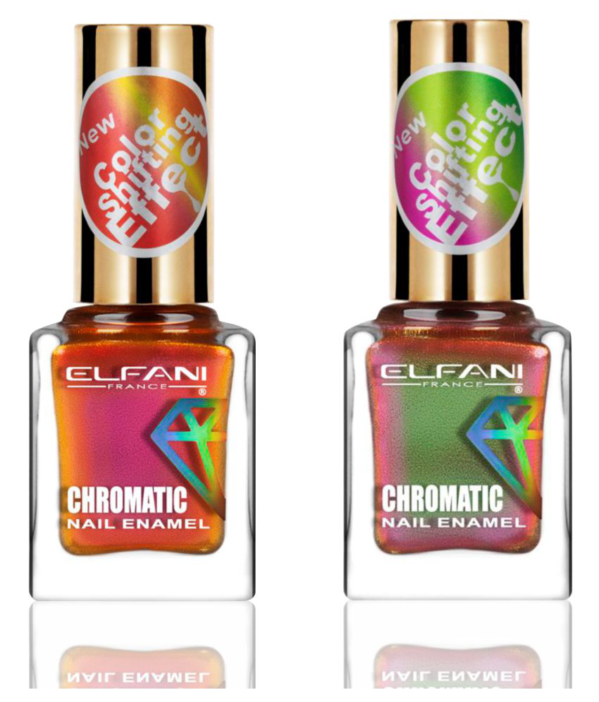 Elfani Nail Polish Multi Multichrome Pack of 2 18 mL