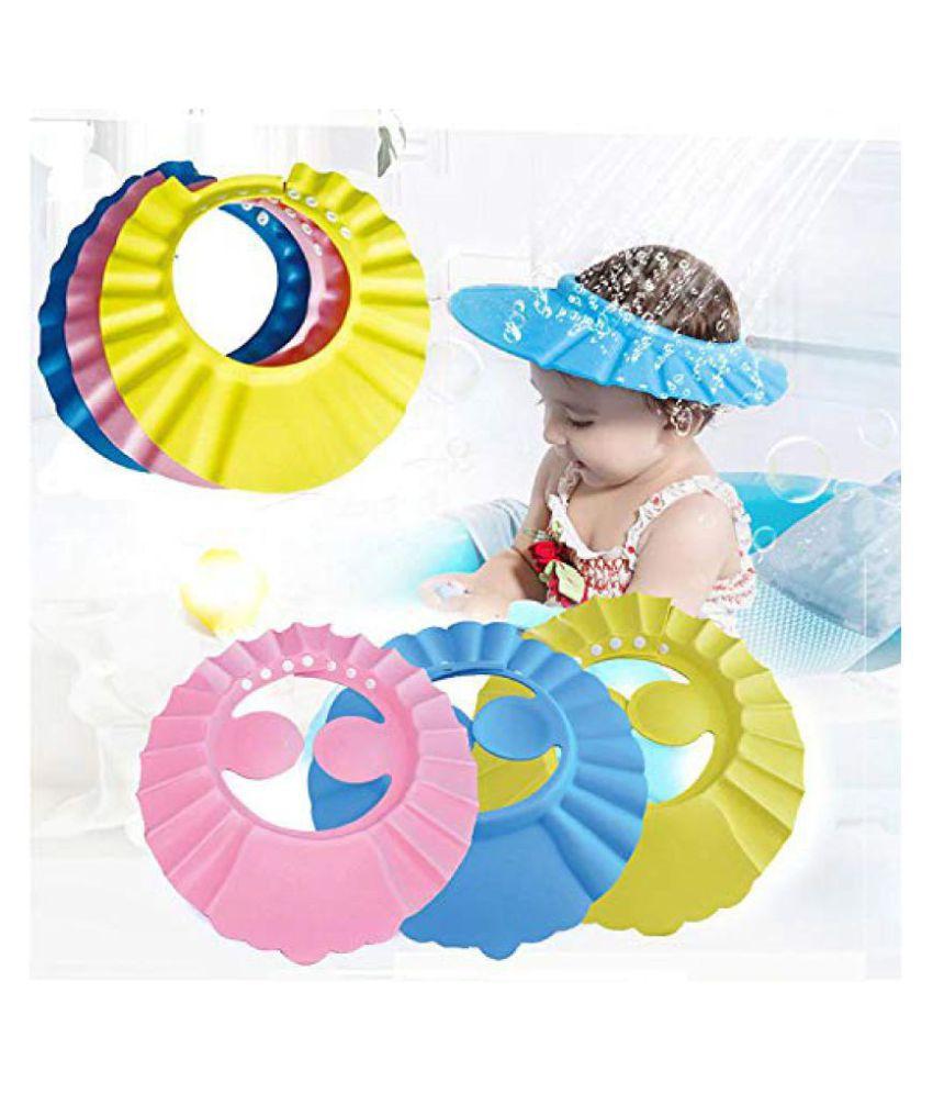 Hi-Lee Baby Toddler Shampoo Bath Shower Cap Wash Hair Ear Shield ( set of 3 )
