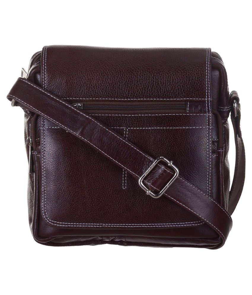 RICH BAG Brown Pure Leather Sling Bag