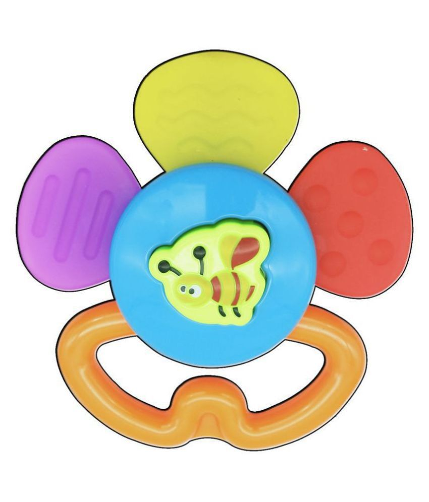 Colorful Soft Bee Baby Teether Toy for Kids
