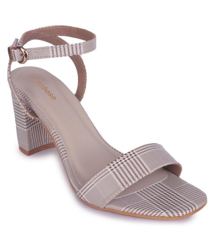 Sanhose Brown Block Heels