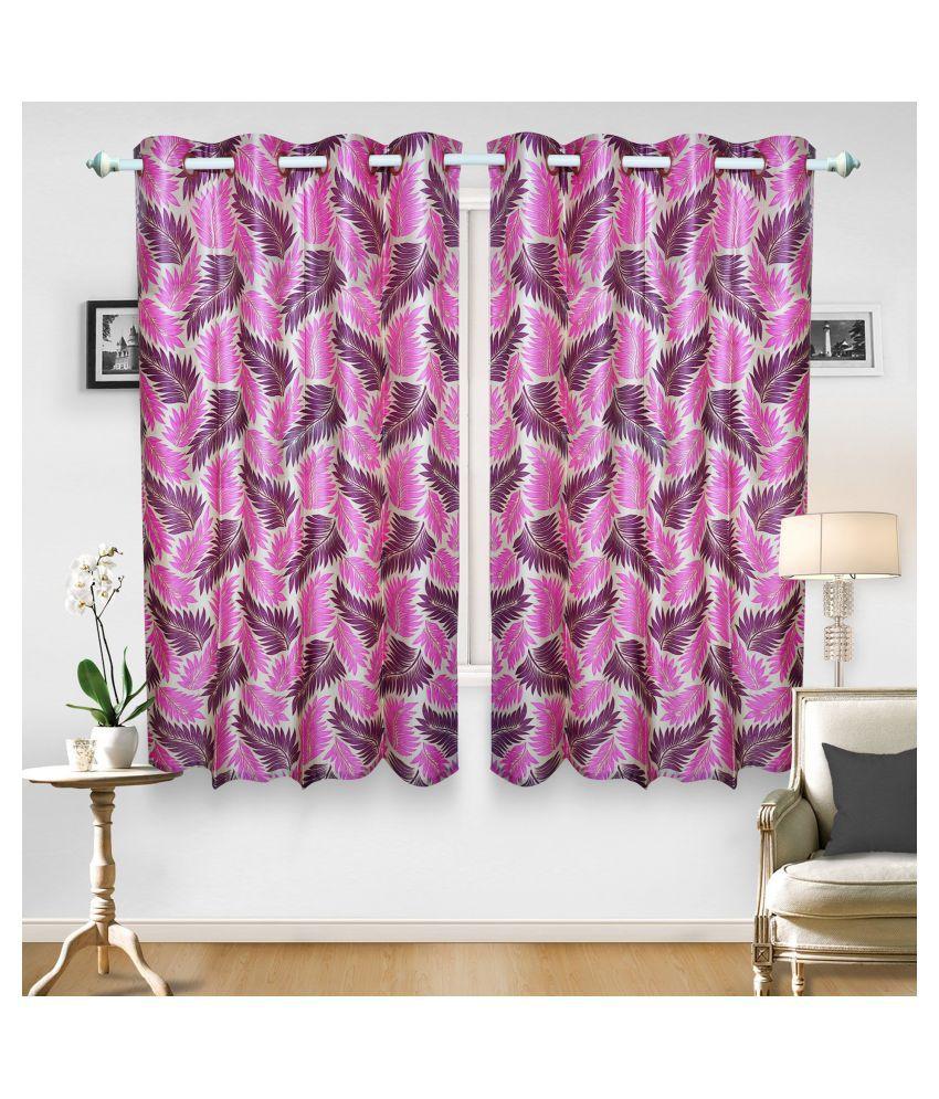 gold decor Single Door Semi-Transparent Eyelet Polyester Curtains Multi Color
