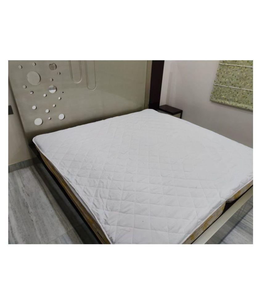 SHAKRIN White Cotton Mattress Protector