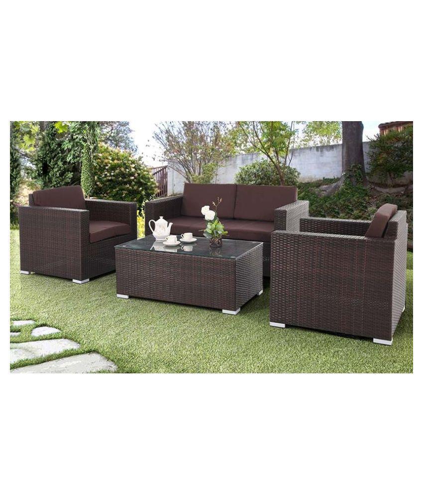 WICKER HUB Balcony Furniture Set for Outdoor/Indoor Sofa Chair