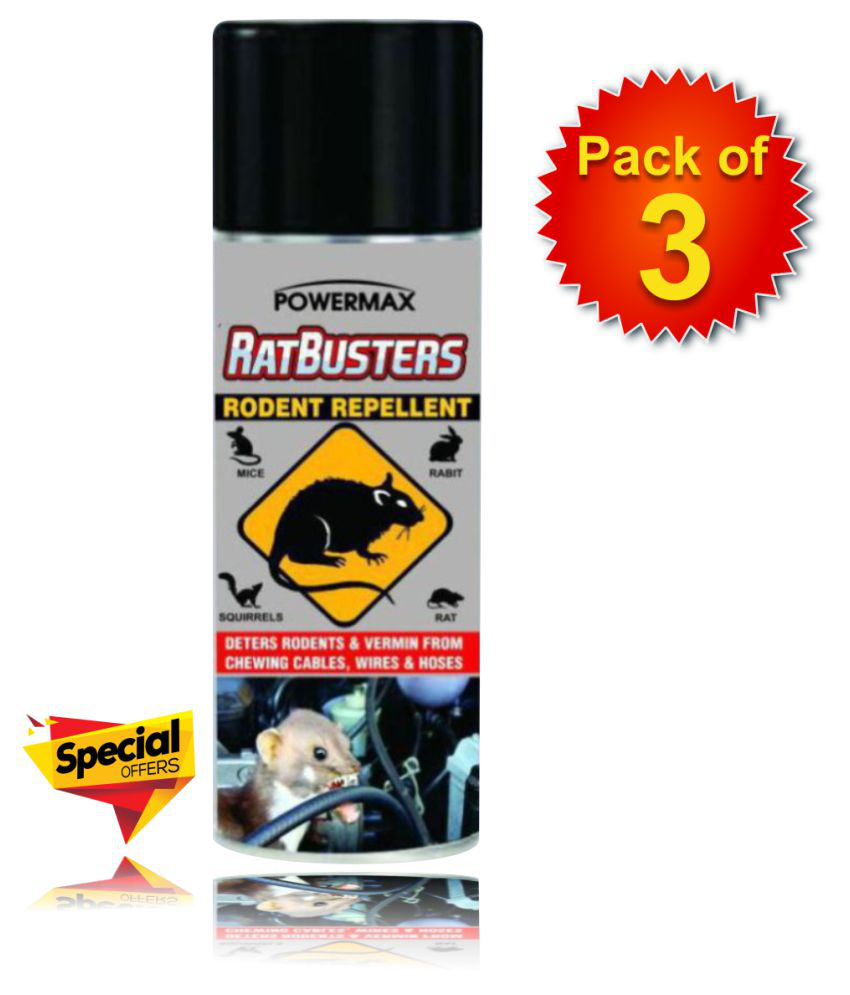 Power Max Rat Repellent Spray Rodent Spray Rat Repellent Spray Pack of 3