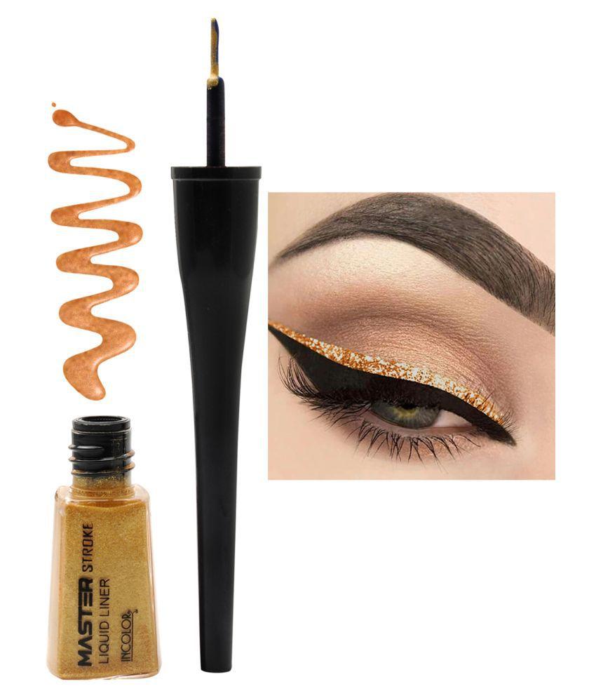 Incolor Master Stroke Eyeliner Shade 10 Extreme Gold | 6 ml