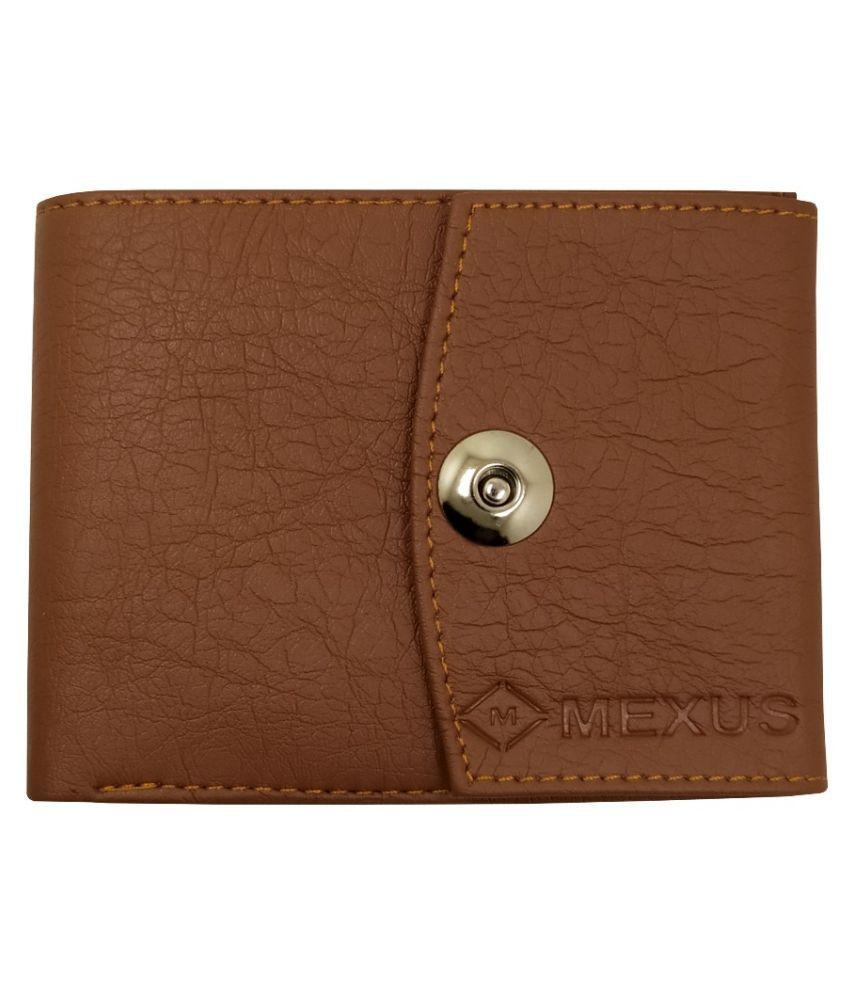 MEXUS PU Tan Fashion Regular Wallet
